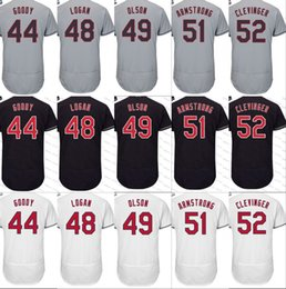 Wholesale Jerseys 52 - 44 Nick Goody 48 Boone Logan 49 Tyler Olson 52 Mike Clevinger 51 Shawn Armstrong flexbase Authentic Baseball Jerseys