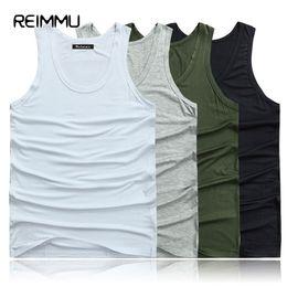 Wholesale Top Clothing Brands Men Cheap - Wholesale- Reimmu 2017 New Fashion Brand Clothing Tank Top Men Plus Size 5XL 6XL 7XL Cotton Casual Men Sleeveless Tanktop Cheap Male Vest