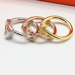 Wholesale gold men rings design - Fashion latest top design of love lovers ring 18K gold-plated stone Eternal love of the men and women wedding ring jewelry gift