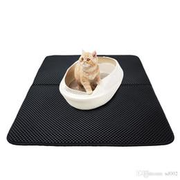 Eva Double Layer Mat Litter Trapper Fondo impermeabile Stuoie oversize Pieghevole stampo Prova Black Cat Bed Sands Cuscino Soft 43 12kk kk da