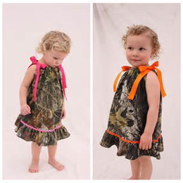 Wholesale Toddler Camouflage Shorts - Cheap Sale O-Neck Camo Flower Girl Dresses Cute Short Knee Length Formal Camouflage Country Kids Formal Party Gowns Toddler Dress