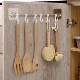 Nail Free Viscose Hook Kitchen Hook Six Hooks Set Adhesion Line Hook
