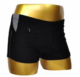 Canada Maillots de bain pour hommes à angle plat Nylon européen Couture de couleur unie Plus Taille Chaud Printemps Eté Holiday Beachwear cheap men s european swim trunks Offre