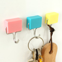 Wholesale Wholesale Magnets For Refrigerator - 3pcs! Strong powerful Refrigerator magnets magic with incorporating hooks memo for Home Decoration load-bearing 1kg