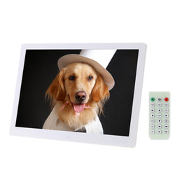 Wholesale Digital Movie Picture Frames - LED Digital Photo Frame 1280*800 High Resolution Picture Frame With Alarm Clock MP3 MP4 Movie Player Remote Control