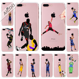 For iPhone XS MAX Basketball Curry Kobe James Phone Cases for iPhone XR 8 7 6 6s Plus Samsung Note9 S9 Soft TPU Painting Cover Shell de Fornecedores de iphone 6s mais caso de basquete