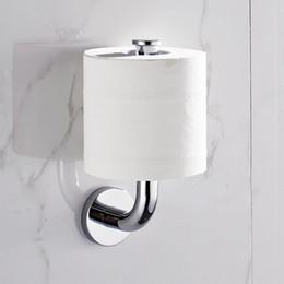 Titular de papel higiénico cubierto online-Accesorios de baño de papel Tipo vertical Holder 304 Sólido soporte de papel higiénico de acero inoxidable de cocina del hotel del sostenedor del tejido sin cobertura