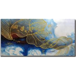 Canada 24x48 pouces peintures à l'huile peinture à la main peinture 3d peint à la main sur toile Abstract Artwork Art décoration murale Style abstrait cheap art 3d paintings for walls Offre