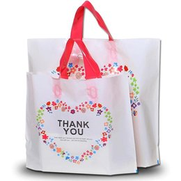 Sacchi personalizzati online-33*25cm Custom Birthday Party Wedding Favor Thank You Gift Bags Plastic Pouches Shopping Gift Big Plastic Bags with Handle