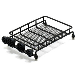 Wholesale Toys Shelf - RC Rock Crawler Scale 1:10 Accessories Mini Luggage rack Carrier Controllable Light Bar model toy car shelf