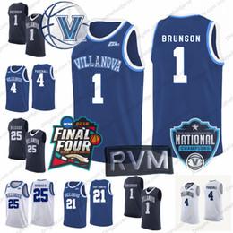 Villanova Wildcats 2018 Final Four   Champions  1 Jalen Brunson 4 Eric  Paschall 25 Mikal Bridges 21 Dhamir Cosby-Roundtree Basketball Jersey bcffc70a8