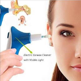 Wholesale Visible Led - Earpick Visible Light Ear Wax Cleaner with Led Electric Spiral Suction Ear Care Supply CCA8692 120pcs