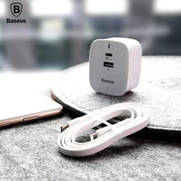 iphone ladegerät steckkabel uk Rabatt Baseus Typ C PD Schnellladegerät Set für iPhone X 28W UK Stecker Adapter 1M USB C zu Beleuchtung Kabel Schnellladegerät für iPhone 8 8 Plus