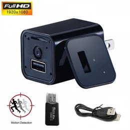 Wholesale Hide Spy Camera Phone - 1080P AC Adapter Spy Camera Charger Hidden Camera Nil Full HD Wall Charger VCR Motion Detection Plug Camera Universal Phone Charger