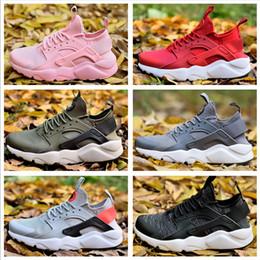 Botas de huarache online-2019 zapatos de correr baratos al por mayor de los hombres de las mujeres del aire Huarache Ultra nuevas botas al aire libre de los zapatos deportivos de la alta calidad envío libre Tamaño 5.5-11