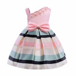 Wholesale Dresse Kids - Wedding Flower Girls Dress Kids Infant Baby Girls Princess Dress For Girls Party Dresse 2018 Summer Children Clothing