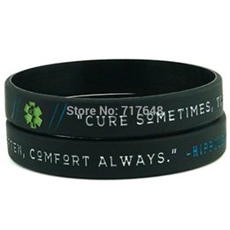 2019 медицинские символы 200PCS Hippocrates Quotes & Medical Symbols wristband silicone bracelets free shipping by FEDEX дешево медицинские символы
