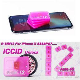 Wholesale iphone 5s ios7 - R-SIM12 perfect Unlocking IOS11 rsim12 for IOS11 -IOS7 Rsim 12 Rsim 12+ Unlock SIM Card for iphoneX i8 8p 7 7p 6plus 6s 5s Sprint AT&T AU