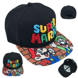 Супер марио бейсболки онлайн-Игра Super Mario Bros регулируемая Snapback бейсбольная кепка черная кепка косплей новый DFA