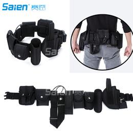 Conjuntos de lanternas táticas on-line-Sistema de Equipamentos de Segurança versátil Tactical Modular Moldado Cinto Dever Set Gun Holster Lanterna Coldre Baton Holster
