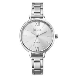 самые маленькие наручные часы Скидка Ladies Watch Geneva Fashion Watches Women Small Stainless Steel Band Analog Quartz Wrist Men's Watch  Horloge