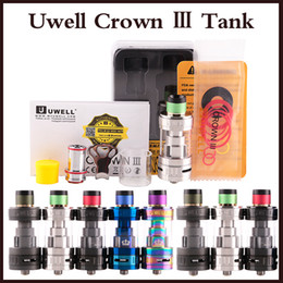 Wholesale Tank Top Large - Hot sales Uwell Crown 3 Tank with 5.0ml e-Juice Capacity Top Filloing Airflow Control Sub ohm Tank Large Clouds Crown III atomizer