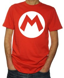 Super arcade-spiele online-Mario Brothers Super Mario Logo 80er Jahre Kostüm Party Arcade Game Herren Red T Shirt