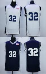 uniformes de la marina blanca Rebajas Cheap Sale 32 Jimmer Fredette College Jerseys 2016 Brigham Young Cougars Uniformes de Camisa Color del equipo Azul Marino Blanco Transpirable