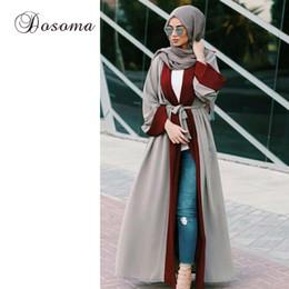 2019 dubai islamic robe Mujeres musulmanas Abaya Maxi Dress Cardigan Jilbab Loose Style Dubai Oriente Medio Long Robe marroquí Ramadán árabe islámica Ropa rebajas dubai islamic robe