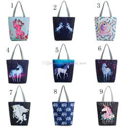 Wholesale horse custom - Unicorn flower horse Handbags folk-custom Animal print bags 2018 new fashion cartoon children Handbags C3660