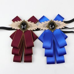Canada Magnifique Noeud Papillon Vintage Cameo Dame Tête Diamod Ruban Gland Broche Chic Filles Costume Élégant Bijoux Col Pin Fille Cravate supplier jewelry heads Offre