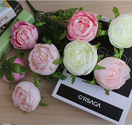 """Wholesale Photography Mount - Quality white pink DIY photography wedding flower wall flower ball arrangement 8cm 3.15"""" artificial peony heads 20pcs lot"""