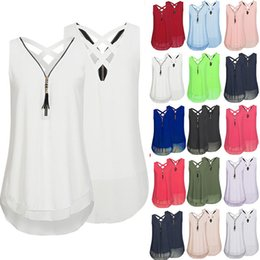 Wholesale womens sleeveless tank sexy tops - Sexy Ladies Camisole Cami Flared Chiffon Sleeveless Vest Womens Strappy Vest Top