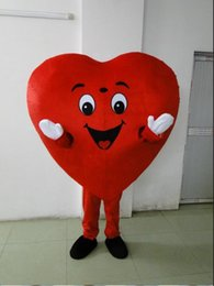 Wholesale Valentine Movie - 2018 Special Valentine marry mascot,Adult Size Red Heart Mascot Costume Fancy Heart Mascot Costume fast shipping