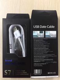 Caja original galaxy s6 online-100% original 1.5 M micro V8 Cable de carga USB rápido Cable de datos de sincronización Adaptador de línea de datos para Samsung Galaxy s6 s7 edge note4 caja de venta al por menor