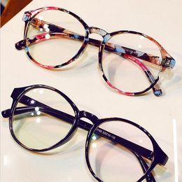 0e806de95d5 Fashion Eyeglasses Frames Big Prescription Glass Frame Women Round Glasses  Frame Brand Myopia Optical Armacao De Oculos