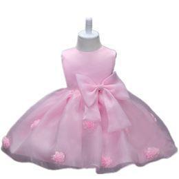 Canada MORENNA blanc rose bébé Baptsm robe 0-24 M nouveau-né bebes princesse robe 1 ans robe de soirée d'anniversaire infantile bébé filles vêtements Offre