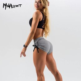 Wholesale High Waisted Black Short Pants - 2018 Women Yoga Shorts High-quality Sports Gym Shorts Low Waisted Sexy Peach Hips Quick Dry Fitness Running Elastic Tight