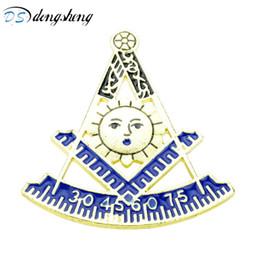 2019 albañil dongsheng Moda Pasado Maestro AFAM Con Square Masonic Freemason Pernos de la solapa Broches para Mujeres Hombres Joyería libre-mason-40 rebajas albañil
