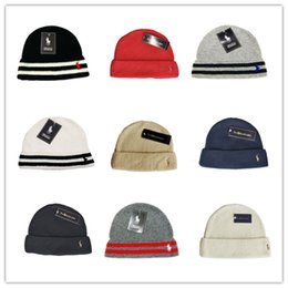 Wholesale Cheap Knitted Hats For Women - Cheap 2018 Fashion Unisex Spring Winter Hats for Men women Knitted Beanie Wool Hat Man Knit Bonnet Polo Beanie Gorros touca Thicken Warm Cap
