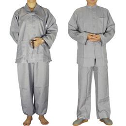 modelos abaya Desconto Masculino e feminino traje Templo Shaolin Zen Budista Robe colocar Meditação Budista Vestido Uniforme Monge roupas Terno