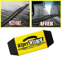 Wholesale Car Wipers Blades - Profession Car Van Wiper Wizard Windshield Wiper Blade Restorer Cleaner with 5 Wizard Wipes car clean tool