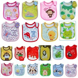 Wholesale White Cotton Aprons Wholesale - Baby Bibs Cute Cartoon Baby Bibs Eva Waterproof Newborn Bandanas Feeding Burp Cloths Girls Boys Saliva Towel Print Apron