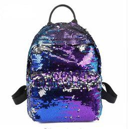 Wholesale Types School Bags - Hot Sale Mermaid Sequin Backpack Reversible Paillette Outdoor Backpack Glitter Sports Double shoulder bag Travel School Bag