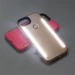 Per IphoneX 8 7 6 6s plus Custodie per cellulari Doppi lati LED Fill Light Cover posteriore per selfie per Samsung S8 Plus da cassa del telefono selfie fornitori