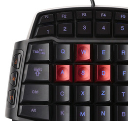 2019 rii i8 bluetooth 2018 hohe Qualität Delux T9U eine Hand verdrahtete Tastatur 41 Standardtasten Einhand-Tastatur mit LED-Hintergrundbeleuchtung gut zu verkaufen