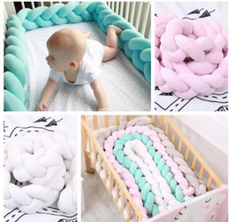 Wholesale baby cushion beds - INS infant Denmark Knot Cushion Pillow Sleeping Support Crib Home Decor Knotted Pillow Knot Ball Chunky Baby Bed Toys 1.5m KKA3857