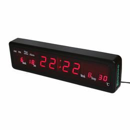 Horloge électronique de bureau horloges Horloge murale numérique LED avec calendrier intérieur Date de la semaine Affichage carillon rouge Houly ? partir de fabricateur