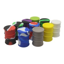 Wholesale food drums - 26ml Food Grade Nonstick Silicone Containers Barrel Drum Shape Jar Dab Container Wax Vaporizer Dabber For Dabs Oil Dry Herb Herbal