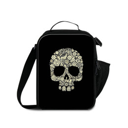 Wholesale Lunch Bag Ice Pack - Men Fashion Travel Outdoor Lunch Bag 3D Printing Skull Children Small Food Drinks Ice Packs Kid Thermal School Lunchbox Isothermic Container